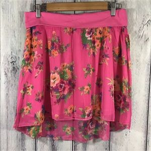 Aeropostale Tiered Chiffon Layered Skirt Pink New